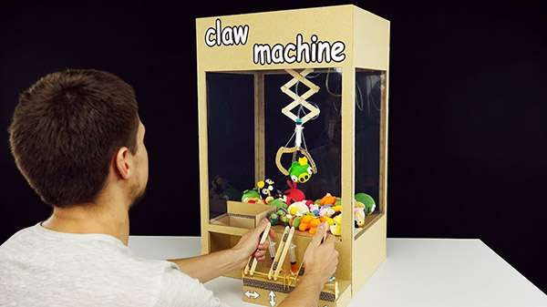 How to Make An Easy Claw Machine Toy from Cardboard
