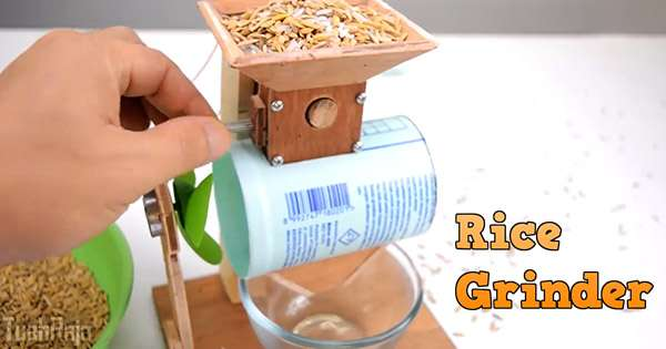 How to Make a Rice Grinder at Home – Woodworking