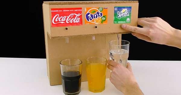 How to Make a Soda Fountain Machine from Cardboard