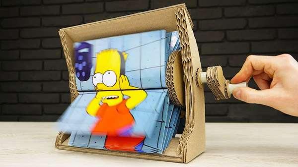 How to Make Flipbook Animation Machine from Cardboard