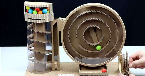 How to Make Gumball Vending Machine from Cardboard
