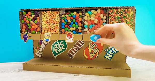 How to Make Candy Dispenser Machine from Cardboard