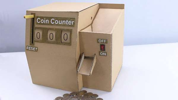 How to Make Coin Counting Machine from Cardboard