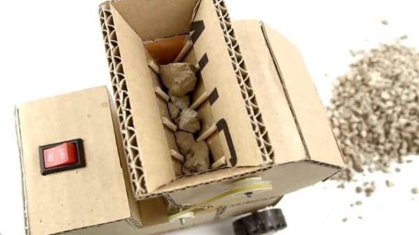 How to Make DIY Jaw Crusher Machine from Cardboard